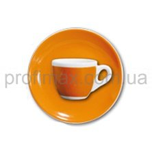 Чашка espresso с блюдцем Ancap Orange серия Verona Millecolori Decal Print (75 мл)